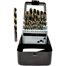 XtremepowerUS Left Hand High Speed Steel 15Pcs Drill Bit Set 1//16 to 1//2 by 1//32