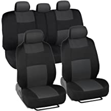 FH Group FB030GREEN-COMBO Seat Cover Combo Set with Steering Wheel Cover and Seat Belt Pad Airbag Compatible and Split Bench Green