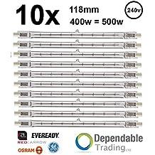 10x ENERGIZER 80w = 100w 78mm Energy Saving Tungsten Halogen R7s Floodlight