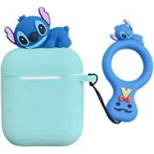 Stylish Soft Silicone Cover Earphone Protection Skin for AirPods 1//2 UR Sunshine AirPods 1//2 Case Super Funny Creative Silly Long Face Small Eyes Bull Terrier Dog Shape AirPods Case Hook