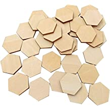 Artibetter 10Pcs Wooden pendant trays for crafting diy jewelry making supplies