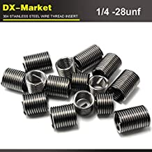 Ochoos 1//2-13unc x1.5D 304 Stainless Steel 1//2 UNC Thread Inserts 50pcs sus304 Wire Thread Repair Fasteners