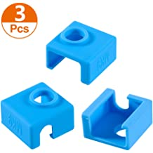 2 PACK ILamourCar 3D Printer Heater Block Silicone Cover MK7//MK8//MK9 Hotend For