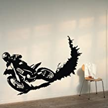 """abbbebcc1f ... Wall Art Sticker Decal Decals for Home paint living room bedroom. KWD  6. ColorfulHall 23.6"""" X 39.4"""" Black Color Motorcycle Racer Dirt Bike"""
