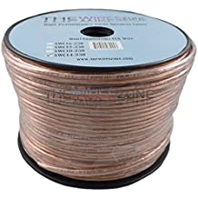 SW18-1000A Clear 2 Conductor 18 Gauge 1000/' Feet Speaker Wire for Home//Car Audio