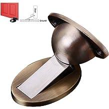kloiu96 Magnetic Invisible Door Holder Stopper Rustproof Metal Heavy Duty Protection Door Stop Anti-Collision Windproof Floor Mounted Holder Stop Catch Simple /& Practical