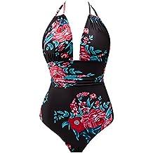 e75284e7b03 B2prity Women's One Piece Swimsuits Tummy Control Swimwear Slimming Monokini  Bathing Suits