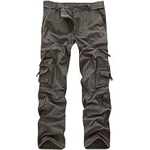 1ecd959c22fa46 Allywit Casual Military Pants, Cotton Camo Tactical Wild Combat Cargo Sport  Pleated Multi Zipper Pockets