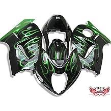 VITCIK Full Fairings Bolt Screw Kits for Suzuki GSXR1000 K3 2003 2004 GSXR 1000 K3 03 04 Motorcycle Fastener CNC Aluminium Clips Black /& Silver