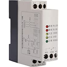 GRV8-01 250VAC//24VDC Small Single-Phase Voltage Monitoring Protection Relay IP20 Protection 35Mm Rail Installation AD48
