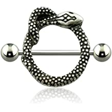 Dynamique Crystal Paved Bitch 316L Surgical Steel Nipple CLICKER