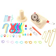 Sheens Yarn Ball Winder Knitting Wool Winder Kit Including Winder Board Needle Cap Counter Hemp Needle Set Counter Ring Plastic Pins