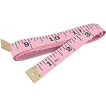 uxcell 3 Pcs 150cm 60 inch Push Button Assorted Color Case Retractable Tape Measure