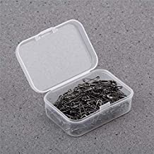 500Pieces Safety Pins Findings Silver Golden Black Anti Copper 19mmx5mm Safety Pin DIY Jewelry Findings Black