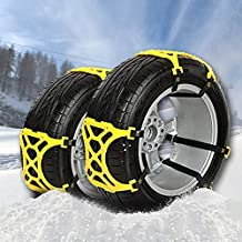 Snow WeyTy Car Snow Tire Chains Anti Slip Snow Skid Mud Chains Winter Universal Adjustable for Hyundai Cars//SUV//Truck//ATV Anti-Skip Tire Width with 6-11 6pcs Mud and Sand Tire Traction Device