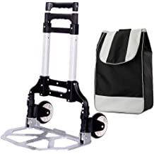 Color : Black, Size : 6540115cm Beam Trolleys Climbing Stairs Trolleys Household Trolleys Portable Shopping Carts Shopping Trailers Folding Trucks Load-Bearing 100kg with Elastic Rope