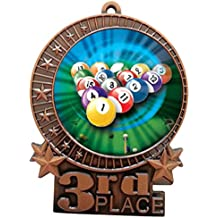 3 Cornhole 3rd Place Bronze Medal with Neck Ribbon Award XMDMY4 Express Medals 1 to 50 Packs