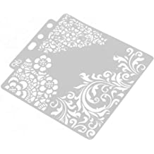 Simdoc DIY Hexagon Stencils Template Painting Scrapbooking Embossing Stamping Album Card Crafts