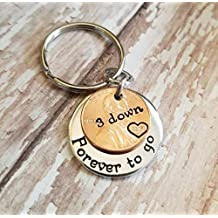 7 Year 2012 Anniversary Lucky Copper Penny Down Forever To Go Coin Key Chain