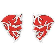 CARRUN 2Pc Car Emblem For Super Bee Emblem Body Fender Rear Side Badge Hollow Badge Replacement For Challenger Black