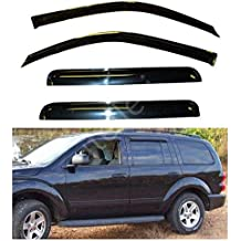 itelleti 4pcs Outside Mount Dark Smoke Sun//Rain Guard Front+Rear Tape-On Auto Window Visors For 95-05 Chevy S10 Blazer 95-04 GMC S15 Jimmy 96-01 Oldsmobile Bravada 4-Door