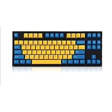 CUCUDAI RGB LED Backlit Wired Mechanical Keyboard,Portable Compact Waterproof Mini Gaming Keyboard 61 Keys Gateron Switchs for PC Mac