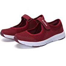 Hengshikeji/_Women Shoes Running Stripe Shoes Mesh Sneakers Round Toe Shoes Cross-Tied Flats Soft Solid Slip-On Loafers