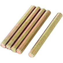 Nrpfell M6 x 150mm 304 Stainless Steel Fully Threaded Rod Bar Studs Hardware 5 Pcs