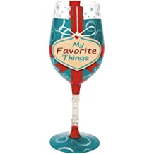 Lolita Glassware Forty Something Wine Glass GLS11-5585K Multi-color 15-ounces