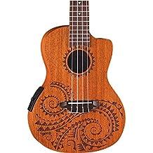 e70980e2003 Luna Tattoo Concert Mahogany Acoustic/Electric Ukulele with Preamp & ...