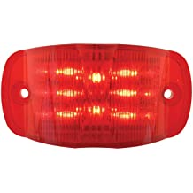 Grand General 81983 Amber 19-LED Cab Marker Light with Chrome Plastic Housing in OE Style and Clear Lens