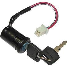 Paddsun 4pin Ignition Key Switch Lock Toolbox Cushion Lock fit for 50cc 150cc GY6 Chinese Jonway Roketa Moped Scooter