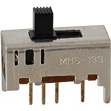 0.45 L x 0.22 W x 0.23 D Jameco Valuepro 3450XBB-4 Switch SPDT On-On Pack of 10 0.3A Slide 125V AC