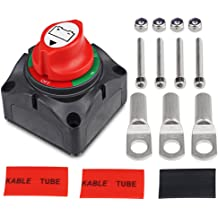 Type F 1pc Qiorange Battery Disconnect Isolator Master Switch Battery Cut OFF Switch for Marine Boat Car Vehicles