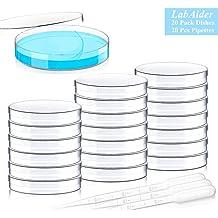 uxcell10 Pcs 90mm Dia 15mm Deep Plastic Petri Dishes w Lids