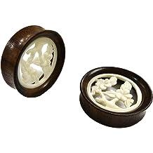 JewelryVolt 6g Bone Plug Black Pair