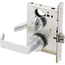 Small Format Interchangeable Core Satin Chrome Finish Classroom Security Function Schlage ND95BD RHO 626 SFIC Series ND Grade 1 Cylindrical Lock with Vandlgard Rhodes Design