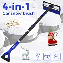 4 in 1 Extendable Foam Snow Brush with Ice Scraper Squeegee Blue Detachable Car Snow Windshield Brush with Durable Gloves for Car SUV 270/° Auto Car Snow Removal Broom JoyTutus 47 Car Snow Brush