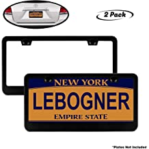 """Mounting Hardware Included 2 Hole Stainless Steel Polish Unbreakable Frame To Protect Plates 2 Pack Chrome Finish /""""Slim Design/"""" Frames That Fits Standard US Plates Lebogner Car License Plate Frames"""