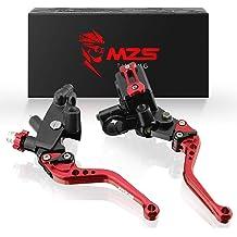 MZS Short Levers Adjustment Brake Clutch CNC for Aprilia RSV4 FACTORY 2009-2019// RSV4R RSV4RR RSV4RF 2009-2019// TUONO V4 1100RR Factory 2017-2019 Black