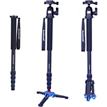 17.6 lbs Load Capacity. 5-Legs Sections Koolehaoda Aluminum 65.3-inch Camera Monopod MP-285L Blue