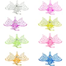 ViaGasaFamido 100pcs Orchid Clip Plastic Mini Stalks Flower Garden Tools Stem Clips Grow Upright Orchid Support Clips