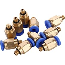Baomain Quick Fittings 6mm Push In Joint Thread Male M5 Pneumatic Connector Quick Fittings 10 Pack PC6-M5