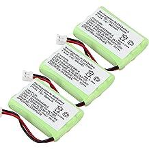 TOPCHANCES 4 Pack 3.6V 850mAh Rechargeable Cordless Phone Battery with for PANASONIC HHR-P104 HHR-P104A KX-TGA248 KX-TGA450B KX-TGA500 KX-TGA520 KX-TGA523 KX-TGA541 KX-TGA542 KX-TGA545