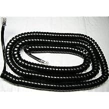Black 12 Ft Phone Handset Cord Nortel Norstar M7310 M7208 M7324 M-Series Coil