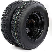1PC Trailer Tire On Rim Tubeless ST205//75D15 F78-15 205//75-15 LRC 5 Lug Wheel White Spoke 15 LRC 5 lugs on 4.5 2057515 Load Range 5x4.5 C tire