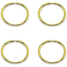 2 Pair Set Sterling Silver Diamond-Cut Tiny Small Endless Thin Round Unisex Hoop Earrings for Men Women Choose Size /& Color
