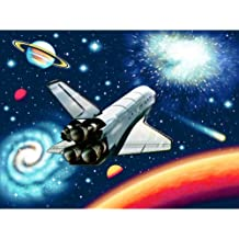 5D DIY Diamond Painting Resin Cross Stitch Kit Crystal Embroidery Home Decor Craft Spaceship 15.7/×11.8in 1 Pack by PADEK