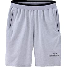 e0cdb03d32 wodceeke Mens Plus Size Shorts, Solid Color Loose Elastic Waist Gym Sport  Active Pocket Shorts