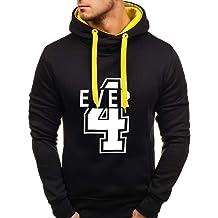 Solid Hooded Sweatshirt for Men Winter Halloween Tops Pentagram Printed Slim Fit Pullover Blouse Hoodies Coats WEI MOLO